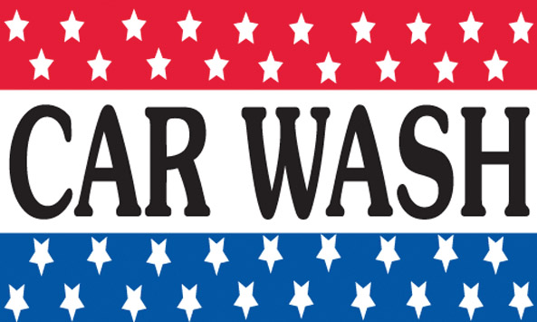 CAR WASH stars flag banner 3x5ft