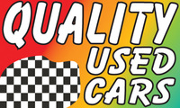 QUALITY USED CARS flag banner 3x5ft