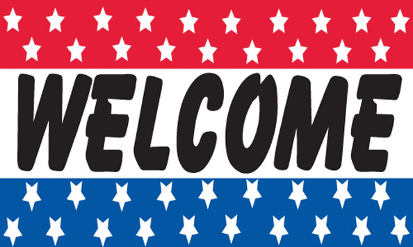 WELCOME flag banner 3x5ft