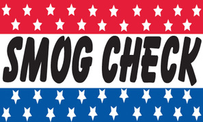 SMOG CHECK flag banner 3x5ft