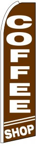 Coffee shop swooper feather banner sign flag