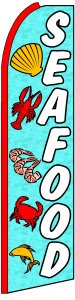 SEAFOOD Swooper banner sign flag
