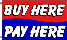 Buy here pay here dealer banner sign flag 3x5ft