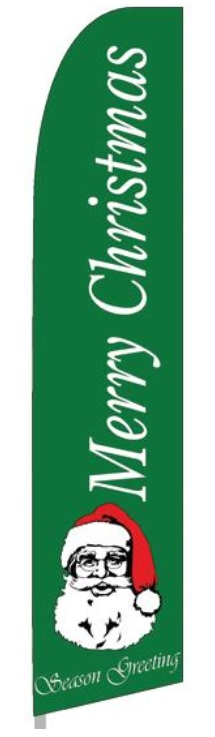 Merry Christmas swooper banner sign flag