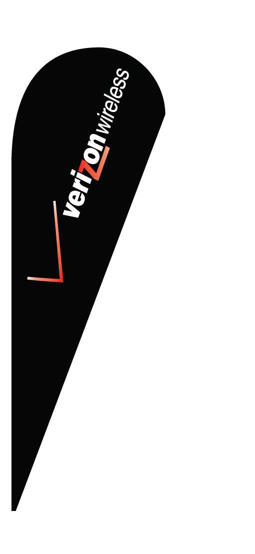 VERIZON teardrop feather flag sign kit