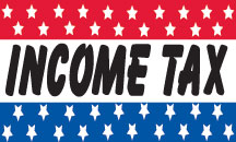 INCOME TAX flag banner 3x5ft