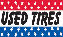USED TIRES stars flag banner 3x5ft