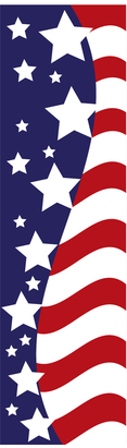AMERICAN GLORY vertical flag 2x8ft