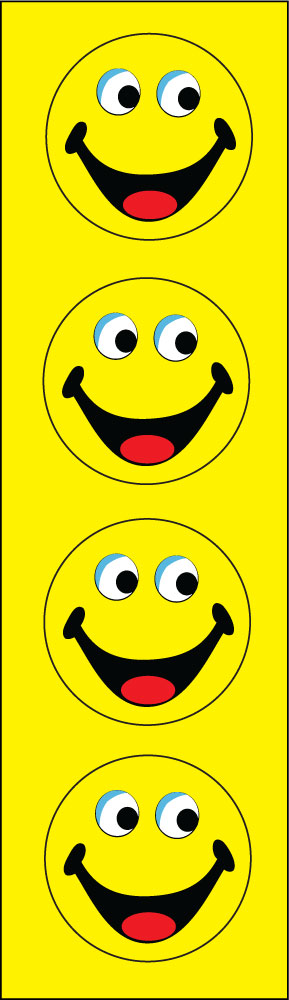 HAPPY FACES YELLOW vertical flag 2x8ft