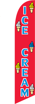 ICE CREAM food swooper flag banner sign
