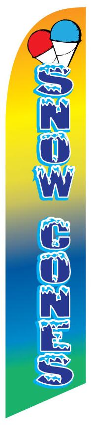 SNOW CONES swooper feather banner sign flag