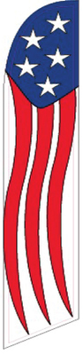 US STREAMER full sleeve swooper feather flag sign