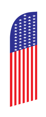 US real estate swooper feather flag with bag