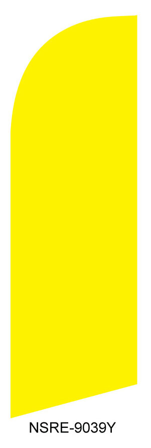 Solid yellow Real estate flag kit