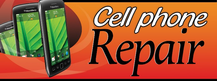 Cell phone Repair large 3x8ft full color banner sign
