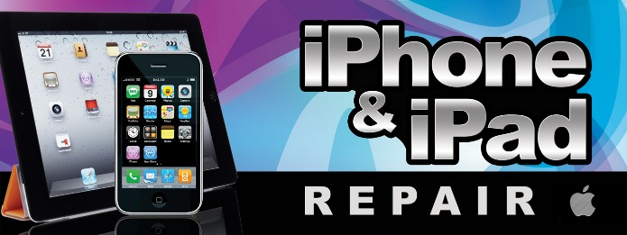 iphone and ipad repair large 3x8ft full color banner sign