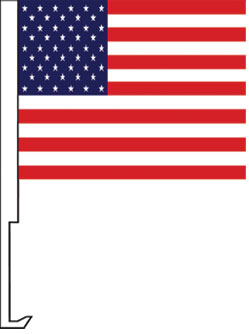 US USA American window flag, heavy duty