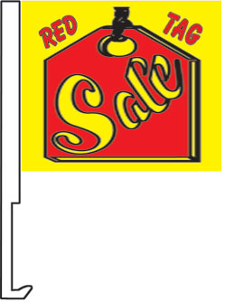 2.00 RED TAG SALE window flag, heavy duty