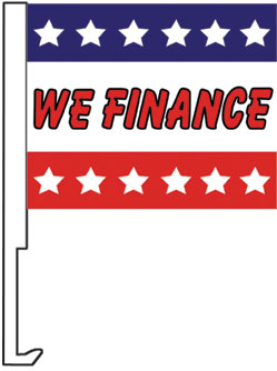 2.00 WE FINANCE window flag, heavy duty