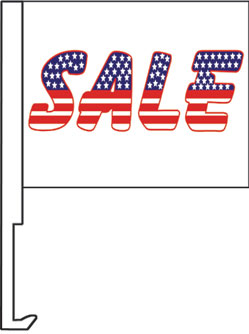 2.00 SALE US window flag, heavy duty