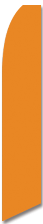 Solid color orange swooper banner sign flag