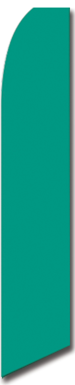 Solid color green swooper flag
