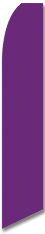 Solid color purple swooper banner sign flag