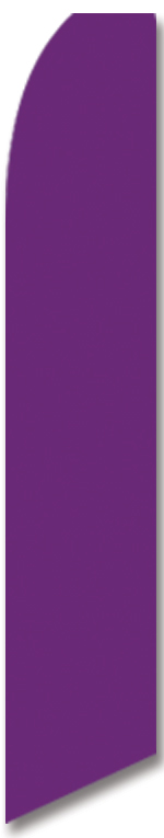 Solid color violete swooper banner sign flag