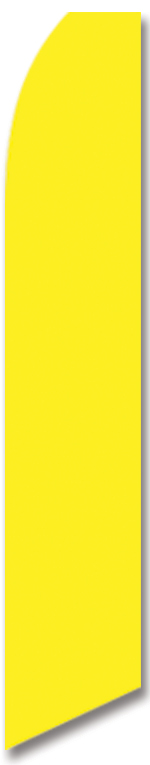 Solid color yellow swooper flag