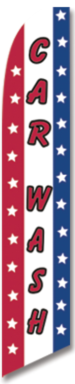 Car wash stars stipes swooper feather banner sign flag