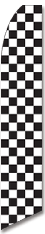 Checkered black/white swooper flag - Click Image to Close