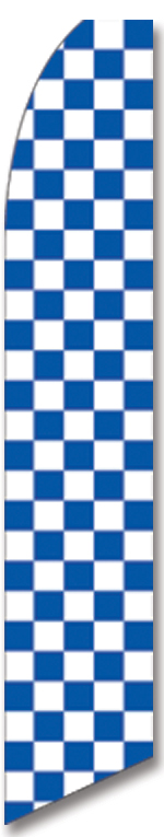 Checkered blue/white swooper flag