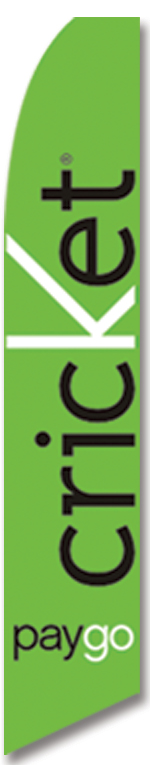 Cricket mobile green swooper flag