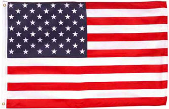 3.00 USA flag banner sign 3x5ft