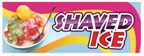 LARGE SHAVED ICE BANNER sign
