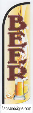 BEER swooper feather banner sign flag