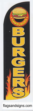 Burgers black swooper feather banner sign flag