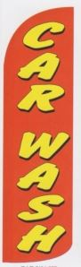 Car wash super size swooper banner sign flag red yellow