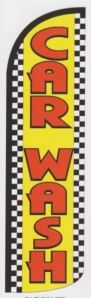 Car wash super size large swooper banner sign flag checkered