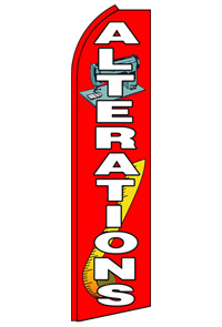 Alterations swooper feather banner sign flag