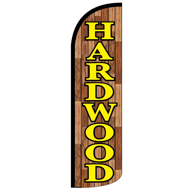 Hardwood sale swooper banner sign flag