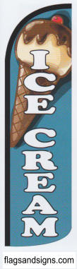 Ice cream food swooper feather banner sign flag