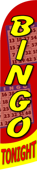 Bingo tonight custom swooper feather banner sign flag