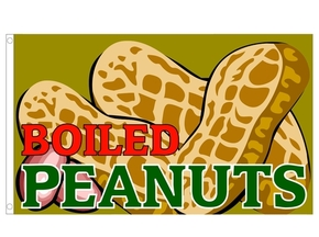 Boiled peanuts custom flag banner 3x5ft