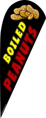Boiled peanuts feather flag kit black
