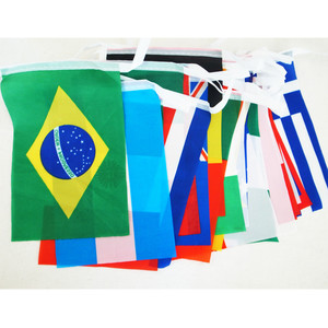 Soccer World Cup Brazil 32 country flag string