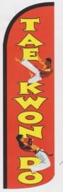 Tae kwon do super size swooper feather banner sign flag