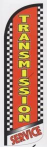 Auto transmisson super size swooper feather flag checkered