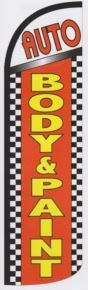 Body and paint super size swooper feather flag checkered