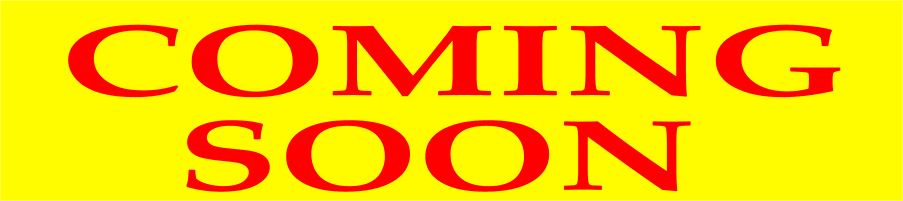 COMING SOON banner sign 3x8ft red yellow